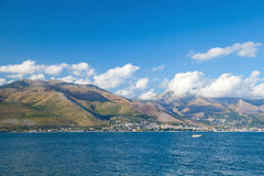 Summer landscape of Gaeta bay, Italy Royalty Free Stock Images