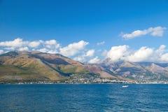 Summer landscape of Gaeta bay, Italy Royalty Free Stock Images
