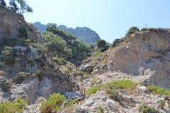 Summer landscape, Greek. Royalty Free Stock Images