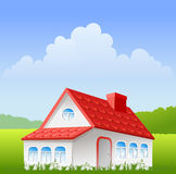 Summer landscape and house Royalty Free Stock Photography
