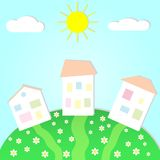 Summer landscape with house Royalty Free Stock Photo