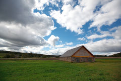Summer landscape. With a house Royalty Free Stock Photography