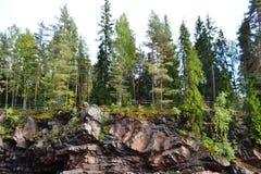 Summer landscape in Imatra. Stock Photo