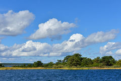 Summer landscape with island in Baltic Sea Stock Photography
