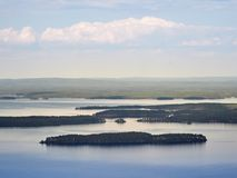 Summer landscape at the Koli National PArk in Finland. royalty free stock image