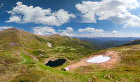 summer landscape with lake in the mountains Stock Photo
