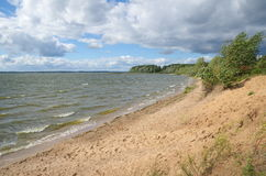 Summer landscape with lake Seliger Stock Photo