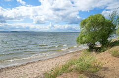 Summer landscape with lake Seliger Royalty Free Stock Photography