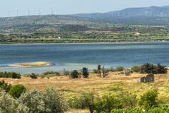 Summer landscape in Languedoc-Roussillon (France) Stock Photos