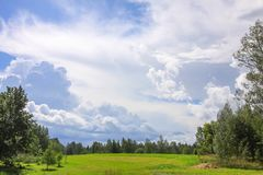 Summer landscape in Latvia, East Europe. Summer landscape in Latvia, East Europe royalty free stock photography