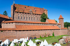 Summer landscape of Malbork castle Stock Images