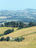 Summer landscape in Marches (Italy) Stock Image