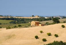 Summer landscape in Marches near Fossombrone Stock Photo