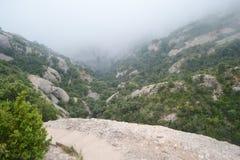 Summer landscape in Montserrat Mountain Stock Images