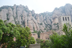 Summer landscape in Montserrat Mountain Royalty Free Stock Photo