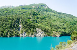 Summer landscape with mountain lake Royalty Free Stock Image