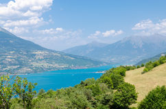 Summer landscape with mountain lake Stock Images
