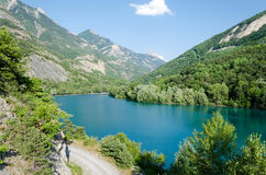 Summer landscape with mountain lake Stock Photography