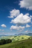Summer landscape on the mountain Stock Photos