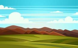 Summer Landscape Mountain Vector Illustration Royalty Free Stock Photo
