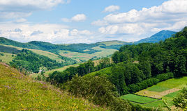 Summer landscape in mountains Royalty Free Stock Photos