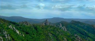 Summer landscape. In the mountains bay krakovka, Primorsky Krai, Russia Stock Photos