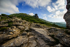 Summer landscape in the mountains Stock Photos