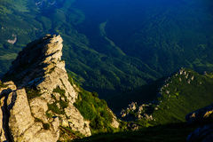 Summer landscape in the mountains. Colorful summer landscape in the mountains in the middle of summer Stock Photo