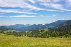 Summer landscape in mountains Stock Images