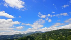 Summer landscape in mountains and dark blue sky Time lapse High quality Footage stock video footage