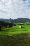 Summer landscape of mountains, green valley Stock Photography