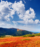 The end of summer in the mountains Stock Photo