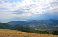Summer landscape in the mountains before the storm Royalty Free Stock Photos