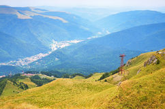 Summer landscape in mountains of Transylvania Royalty Free Stock Images
