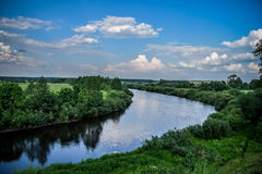 Summer landscape nature riverside Royalty Free Stock Photography