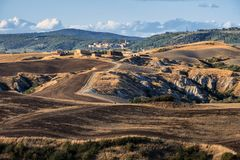 Summer landscape near Asciano Royalty Free Stock Images