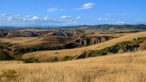 Summer landscape near Asciano Royalty Free Stock Photography