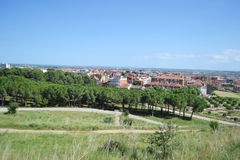 Summer landscape near Figueres Royalty Free Stock Photography