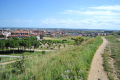 Summer landscape near Figueres Royalty Free Stock Images