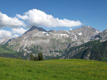 Summer landscape near Gstaad, Swiss Alps Stock Image