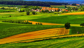 Summer landscape near Hanau, Germany. Colorful rural summer landscape near Hanau, Germany Royalty Free Stock Images