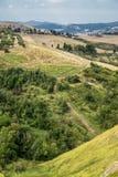 Summer landscape near Volterra, Tuscany Stock Images