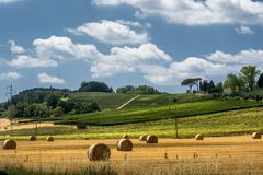 Summer landscape near Volterra, Tuscany Stock Images