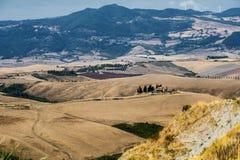 Summer landscape near Volterra, Tuscany Royalty Free Stock Photos