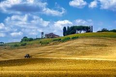 Summer landscape near Volterra, Tuscany Royalty Free Stock Image