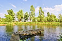 A summer landscape in the Netherlan Royalty Free Stock Photos