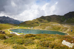 Summer landscape  from Obertauern ski resort in Austria Royalty Free Stock Images