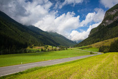 Summer landscape  from Obertauern ski resort, Austria Stock Image