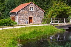 Summer landscape with old stone storage Royalty Free Stock Photos