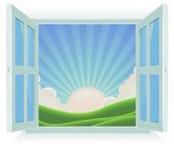 Summer Landscape Outside The Window royalty free illustration